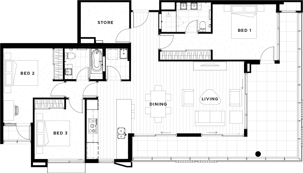 Apartment 43 Floorplan