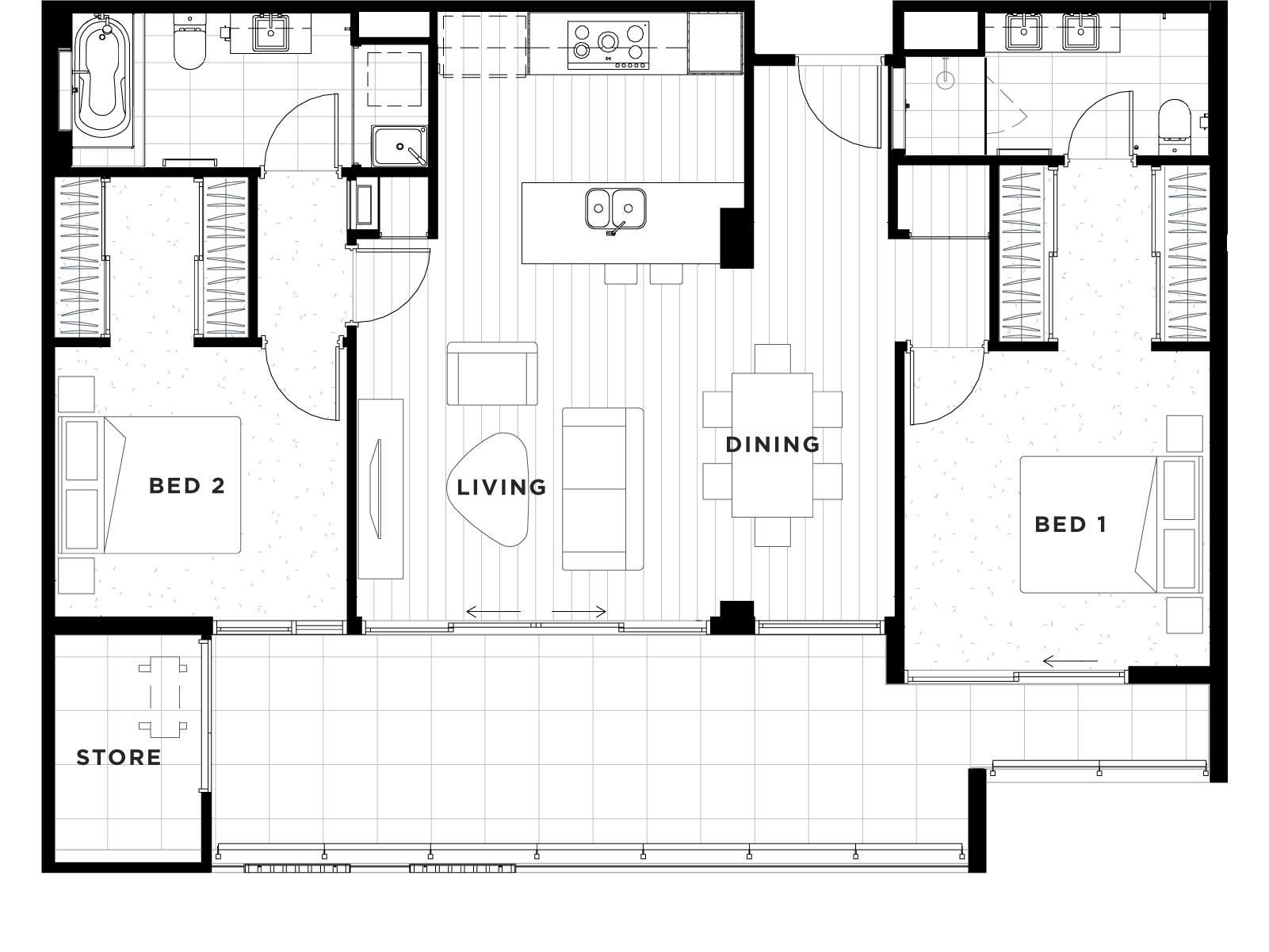 Apartment 44 Floorplan