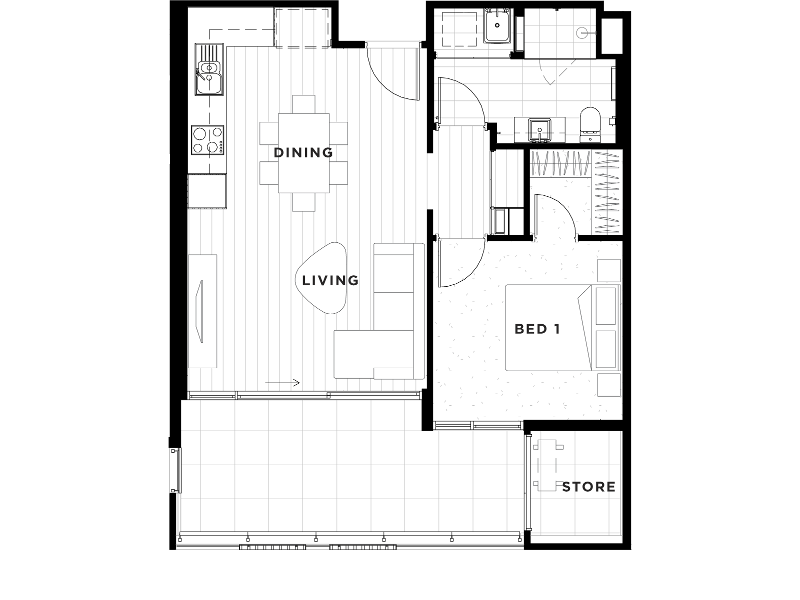 Apartment 45 Floorplan